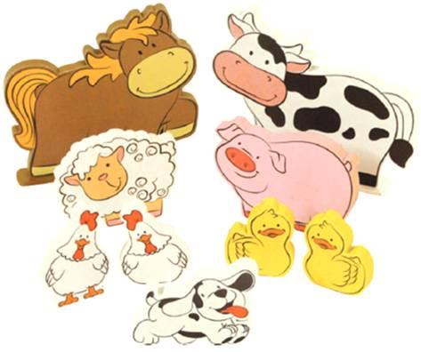 Brinquedo de Madeira Coleção Fazendinha Animais da Fazenda