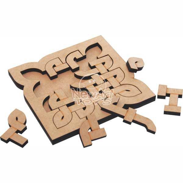Coleção Quebra Cabeça Desafio Modelo 13 Brinquedo de Madeira