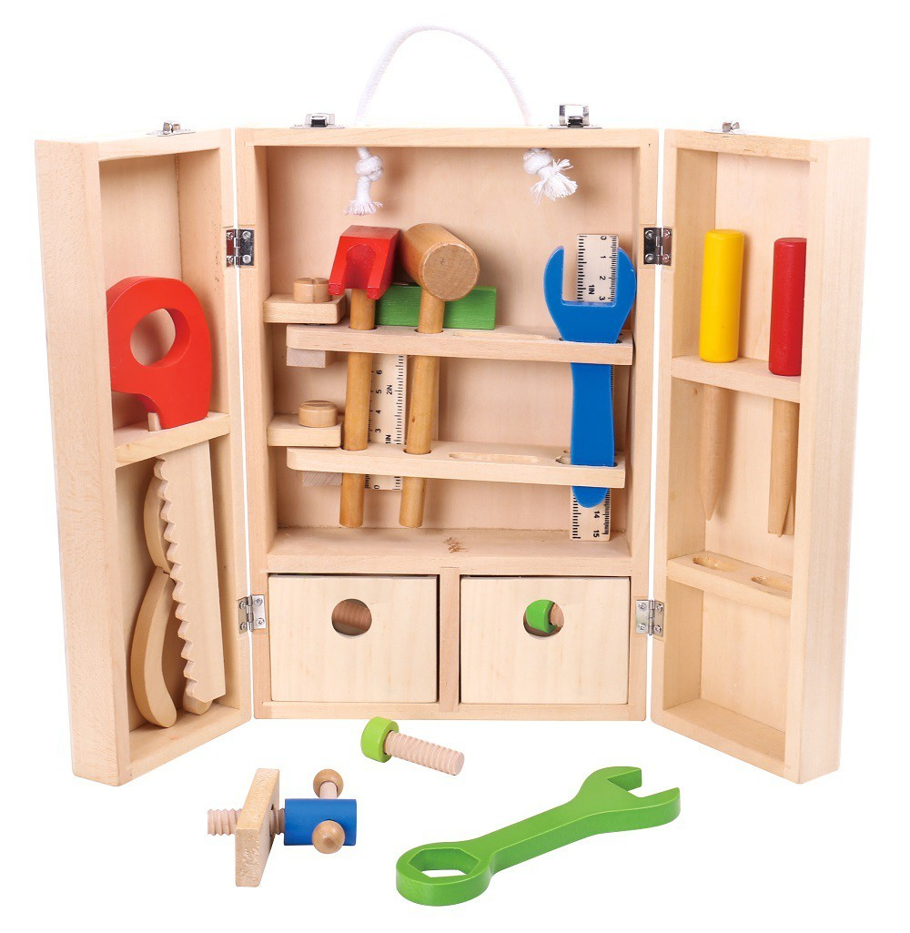 Brinquedo de Madeira Conjunto Carpinteiro