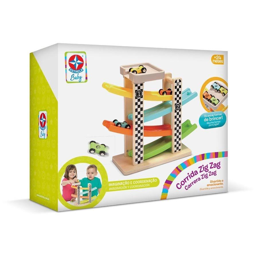 Brinquedo de Madeira Corrida Zig Zag Estrela