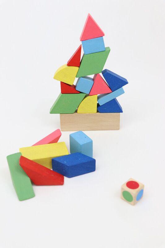 Brinquedo de Madeira de montar  Desafio do Equilíbrio