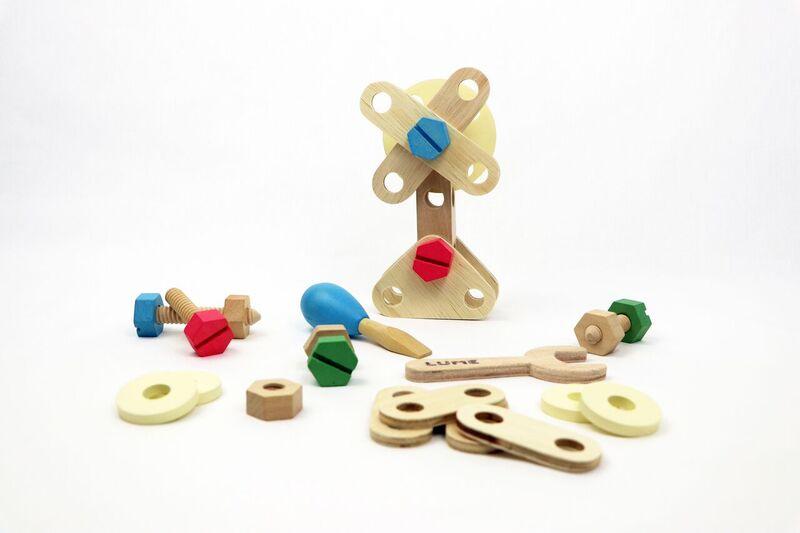 Brinquedo de Madeira de Montar Kit Inventando e Consertando