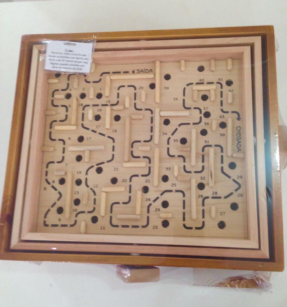 Brinquedo de Madeira Desafio Labirinto G
