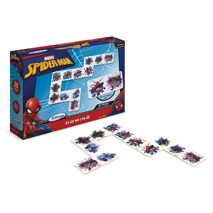 Brinquedo de Madeira Dominó Spiderman Ultimate