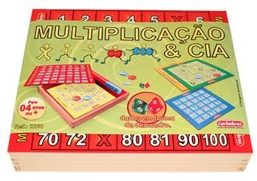 Multiplicação e Cia Brinquedo  Educativo de Madeira