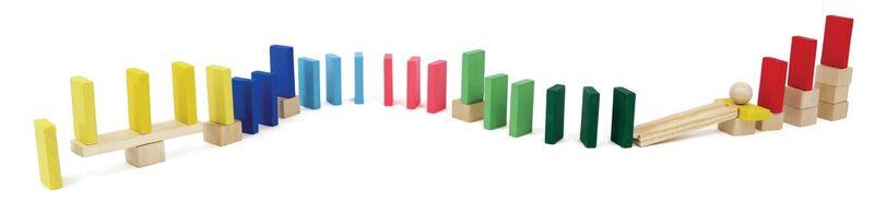 Brinquedo de Madeira Efeito Dominó 38 peças