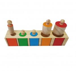 Brinquedo de Madeira Encaixe Lógico