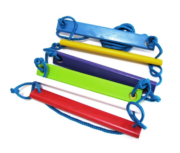 Brinquedo de Madeira Escada de Corda Colorida