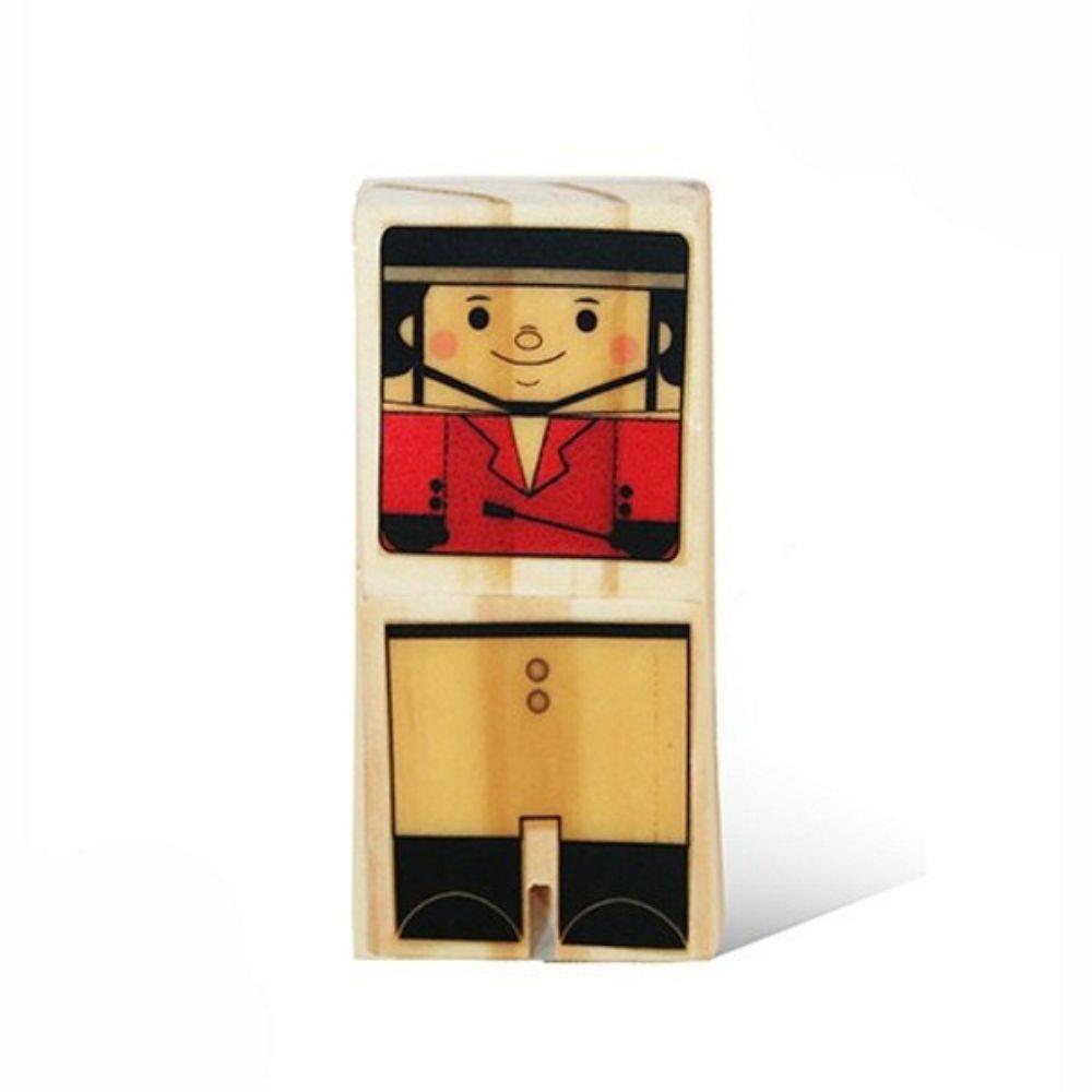 Brinquedo de Madeira Esportistas Cavaleiro