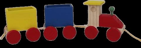 Brinquedo de madeira Expresso do trem colorido