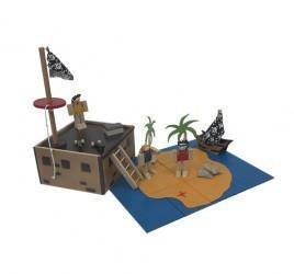 Ilha do Tesouro Brinquedo de Madeira