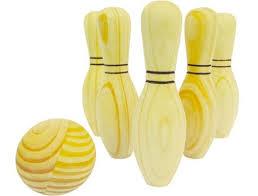 Brinquedo de Madeira Jogo Boliche