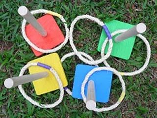 Brinquedo de Madeira Jogo Educativo Alvo Argola Com Base