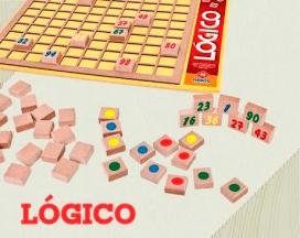 Brinquedo de Madeira Jogo Log 30 Lógico