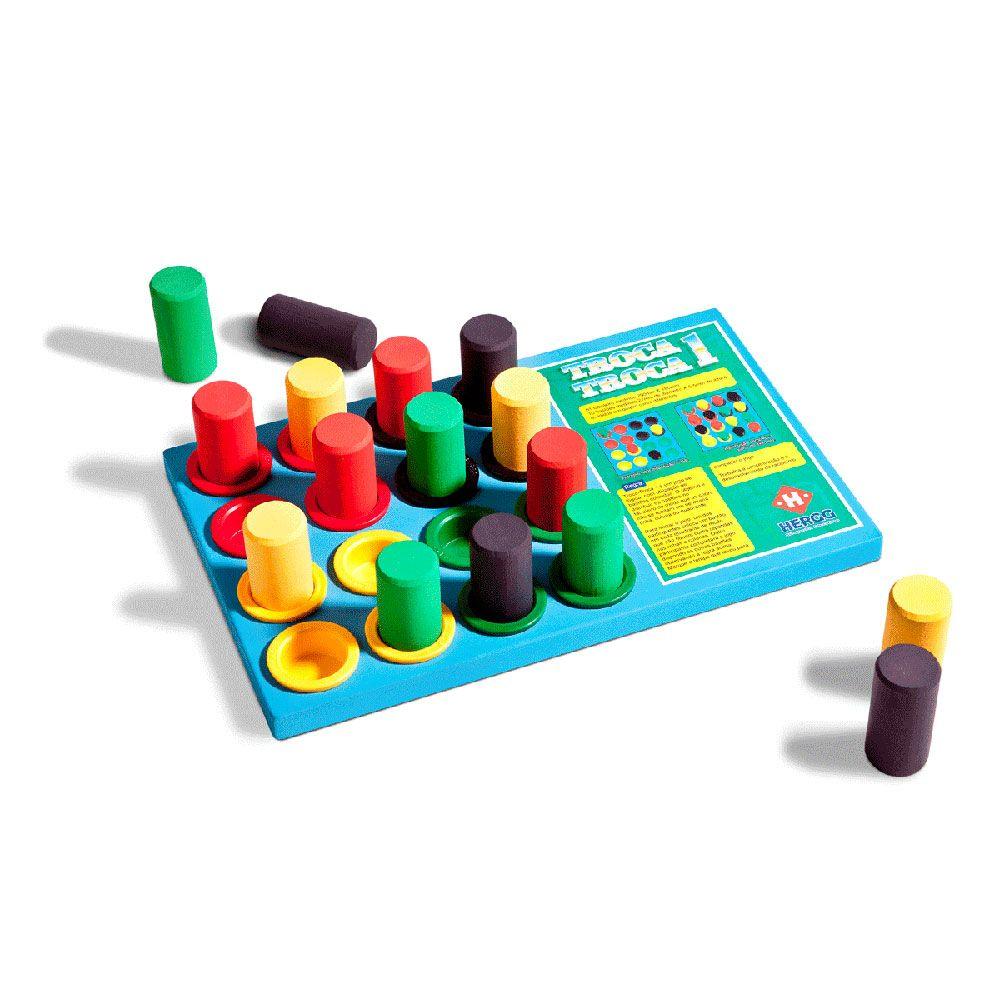 Brinquedo de madeira Jogo Troca Troca 1