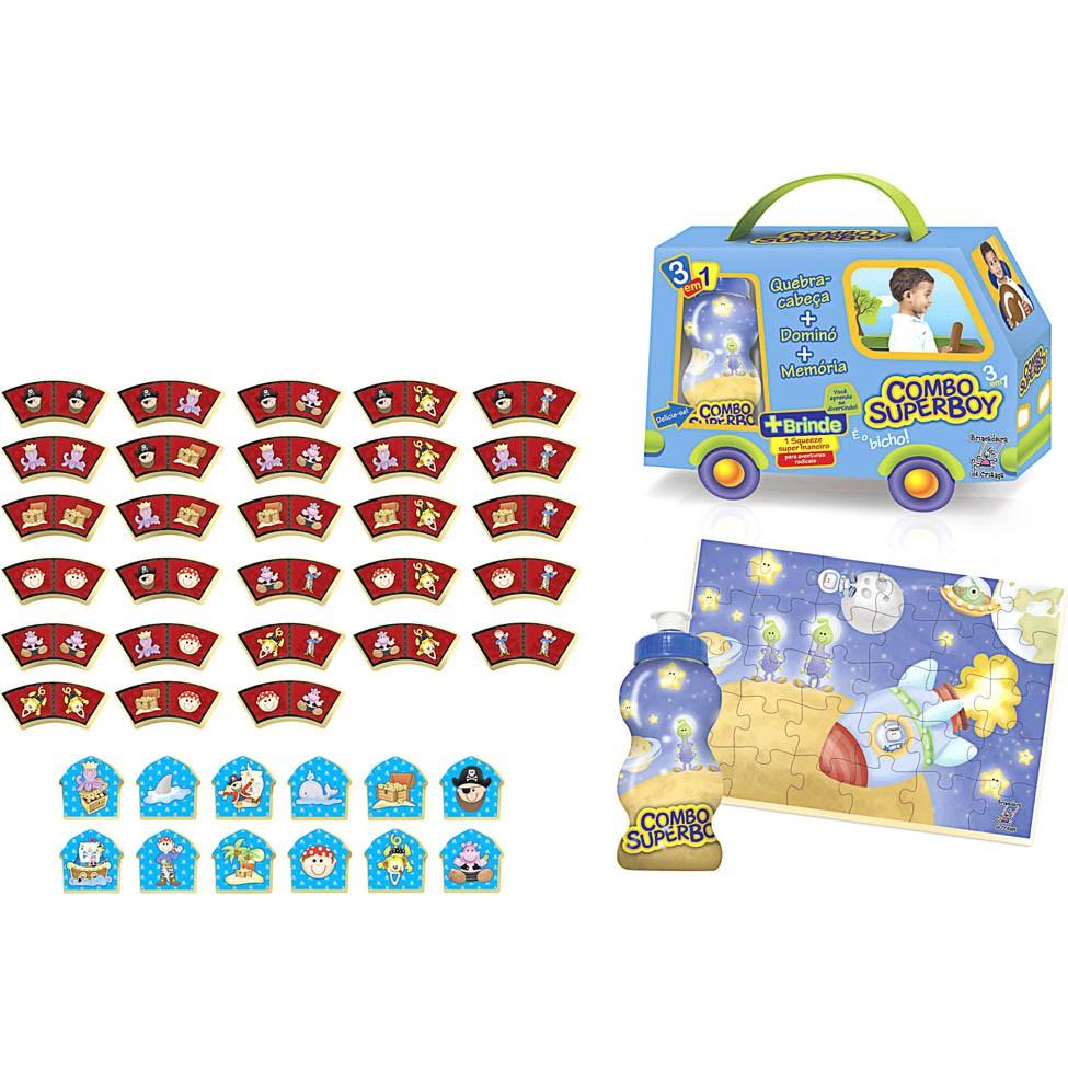 Brinquedo de Madeira Jogos Combo Super Boy