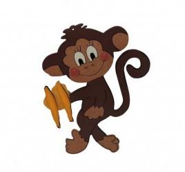 Brinquedo de Madeira Jogue a Banana para o Macaco.