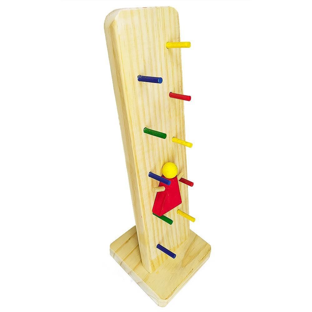Brinquedo de Madeira Maria Loca Grande 53cm Brinquedo Educativo