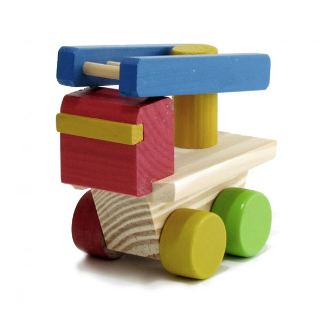 Brinquedo de Madeira Mini Caminhão Bombeiro.