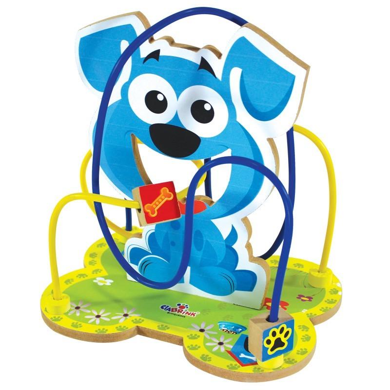 Brinquedo de Madeira Montanha Russa Aramado Cachorro
