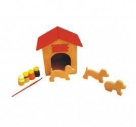 Brinquedo de Madeira Para Pintar Casinha de Cachorro