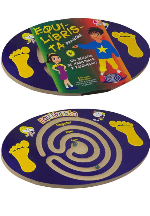 Brinquedo de Madeira Prancha Equilibrista Tradicional
