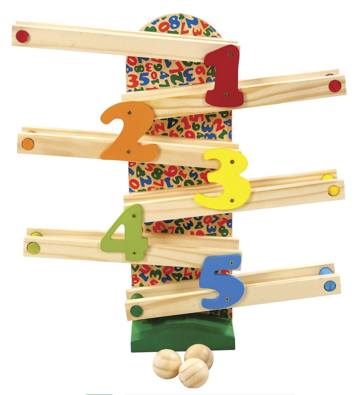 Brinquedo de Madeira Rola Bolinha.