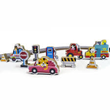 Super Pistinha de Carros Brinquedo de Madeira