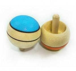 Brinquedo de Madeira Tradicional Pião de Dedo Maluco Cores Sortidas