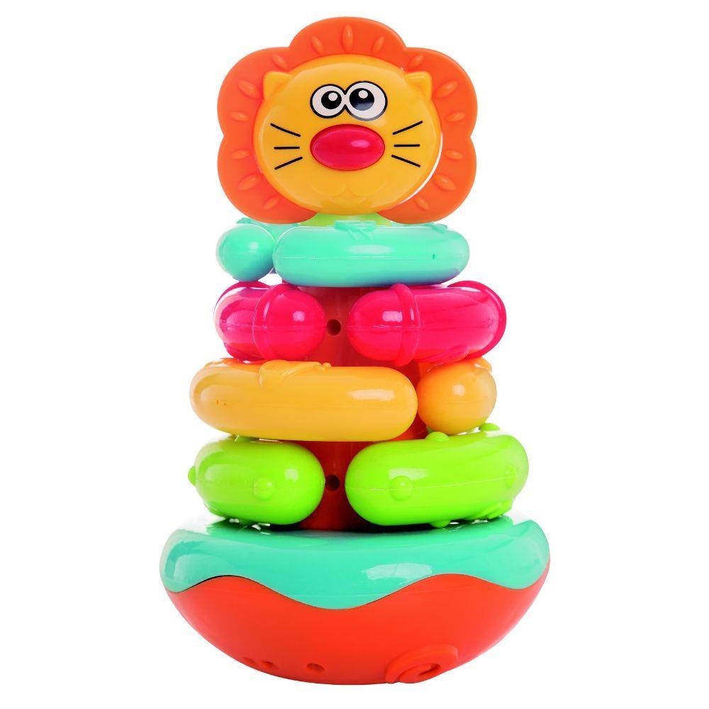 Brinquedo de Montar João Bobo Empilha Argolas Leão