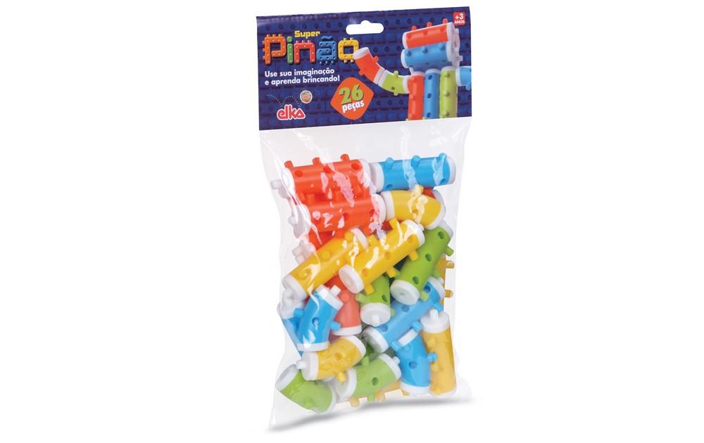 Brinquedo de Montar Pinos Super Pinão Elka
