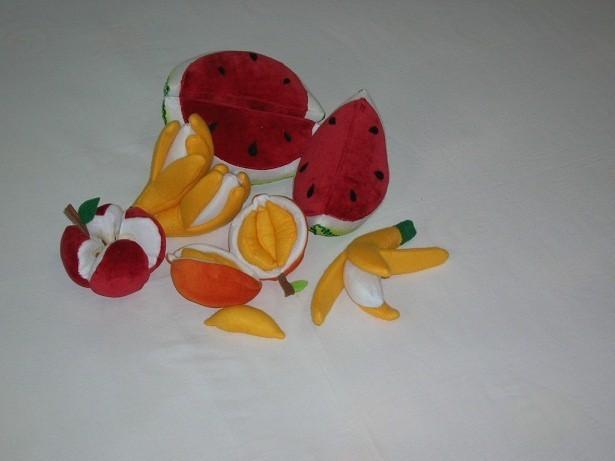 Brinquedo de Pano Conjunto Frutas em Tecido