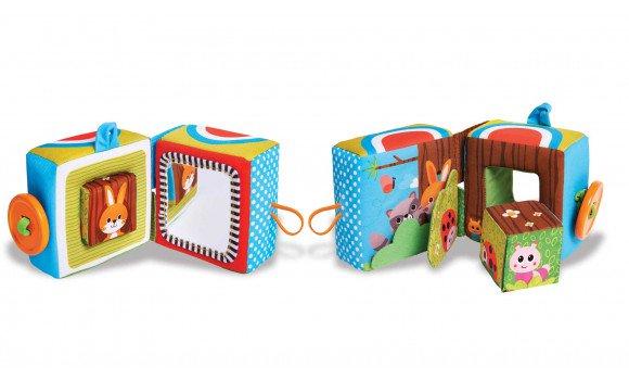 Brinquedo de Pano Cubo Mágico de Atividades Novo Tiny Love