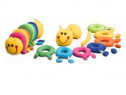 Brinquedo de Pano e Montar Centopeia