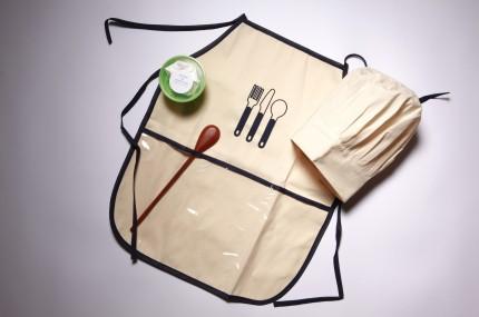 Brinquedo de Pano Kit Mestre Cuca Avental, Touca e Acessórios