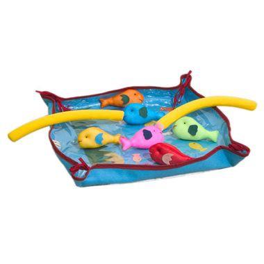 Brinquedo de Pano Pescaria de Tecido com Velcro