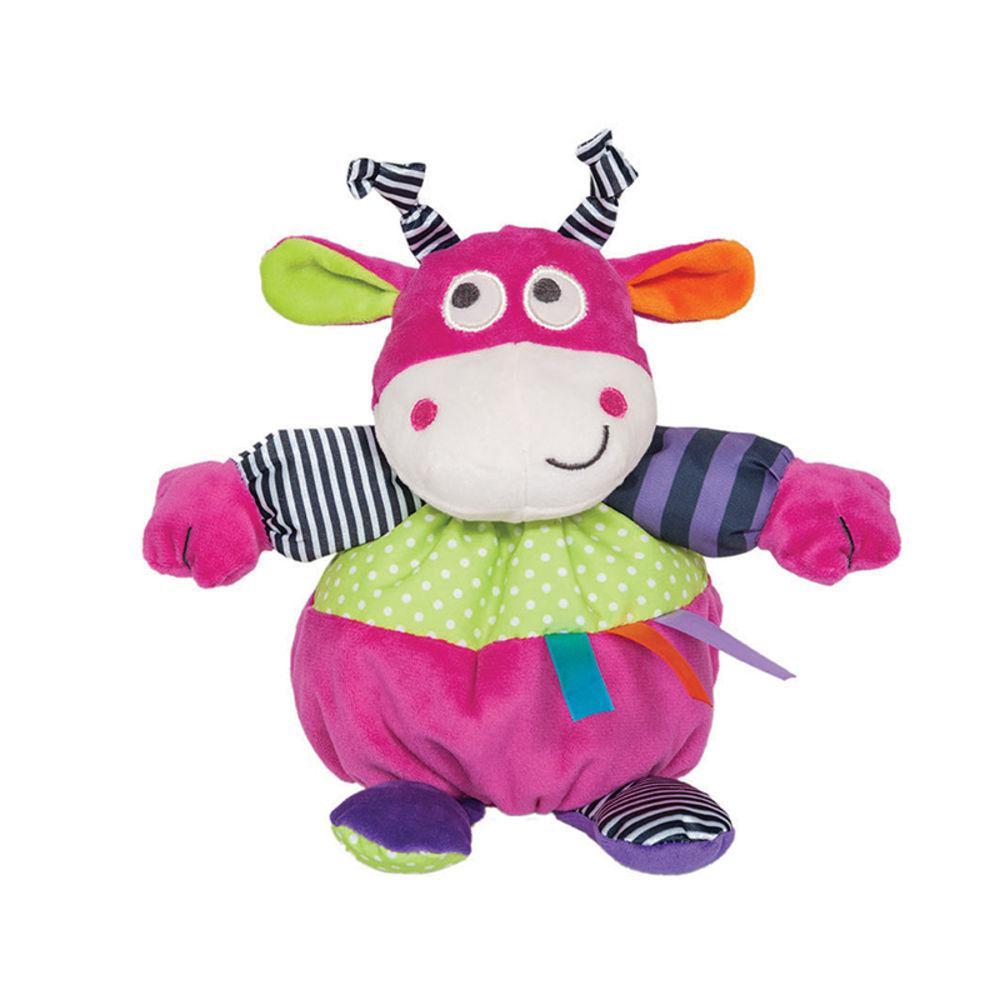 Brinquedo de Pelucia Chocalho Vaquinha Flics Buba