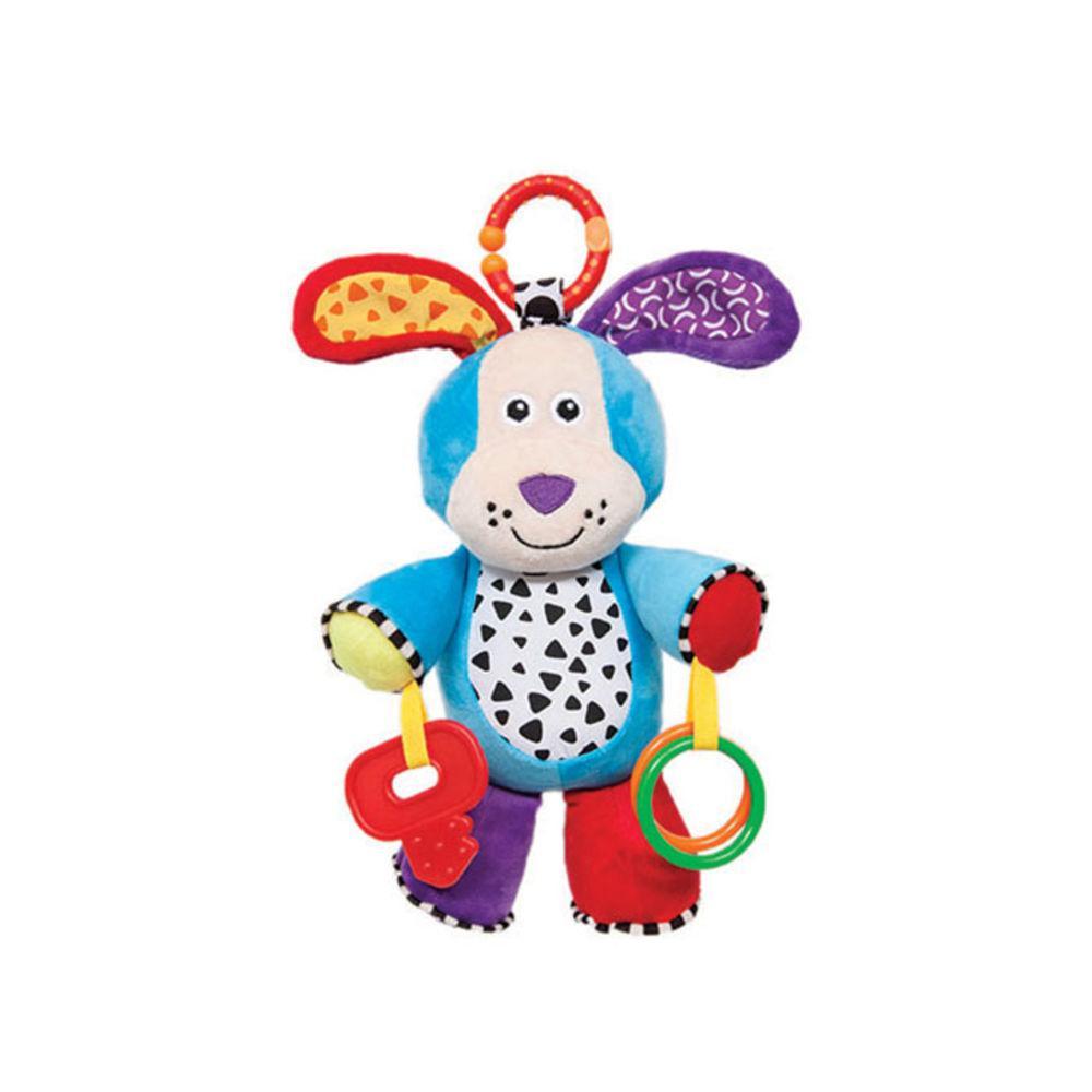 Brinquedo de Pelúcia Mordedor Chocalho Cachorrinho Atividades