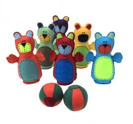 Boliche em Feltro Ursinhos Brinquedo de Tecido