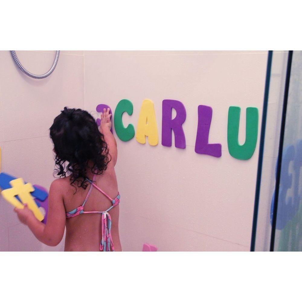 Alfanumérico para Banho Brinquedo Educativo