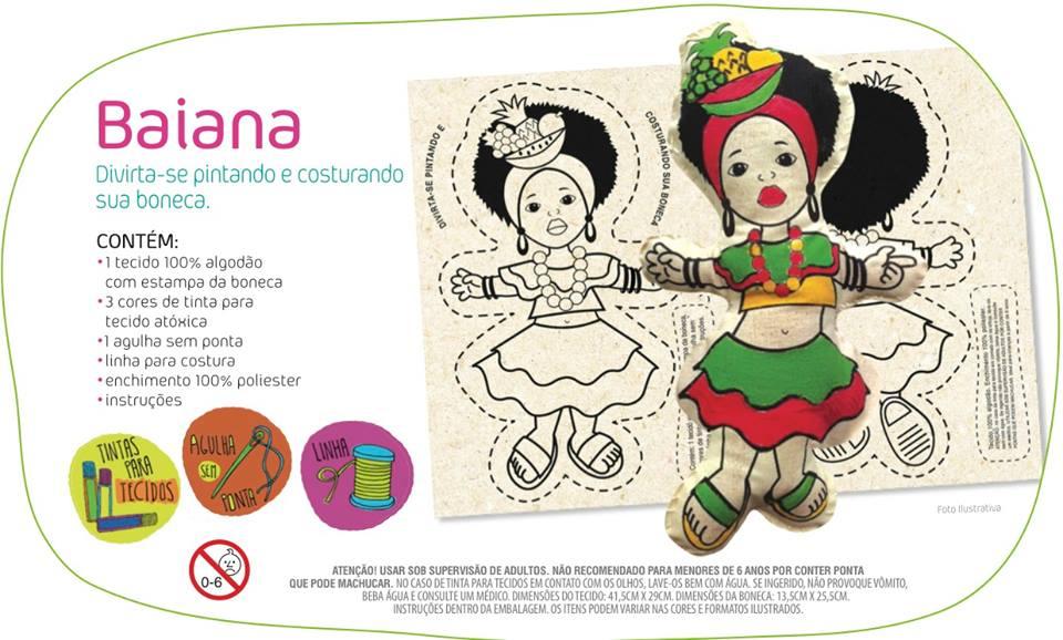 Brinquedo Educativo Artesanato Boneca Baiana