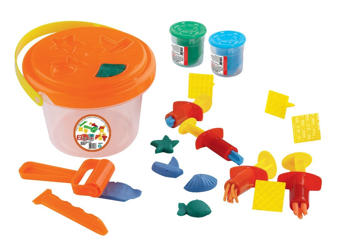 Brinquedo Educativo Balde Criativo Massinhas Dismat.