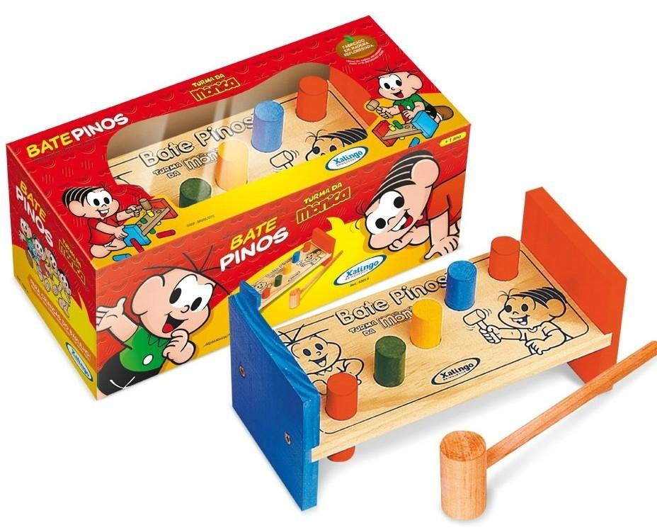 Brinquedo Educativo Bate Pinos Turma da Mônica