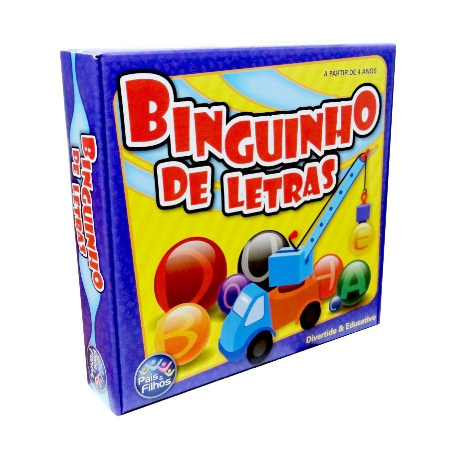Brinquedo Educativo Binguinho de Letras