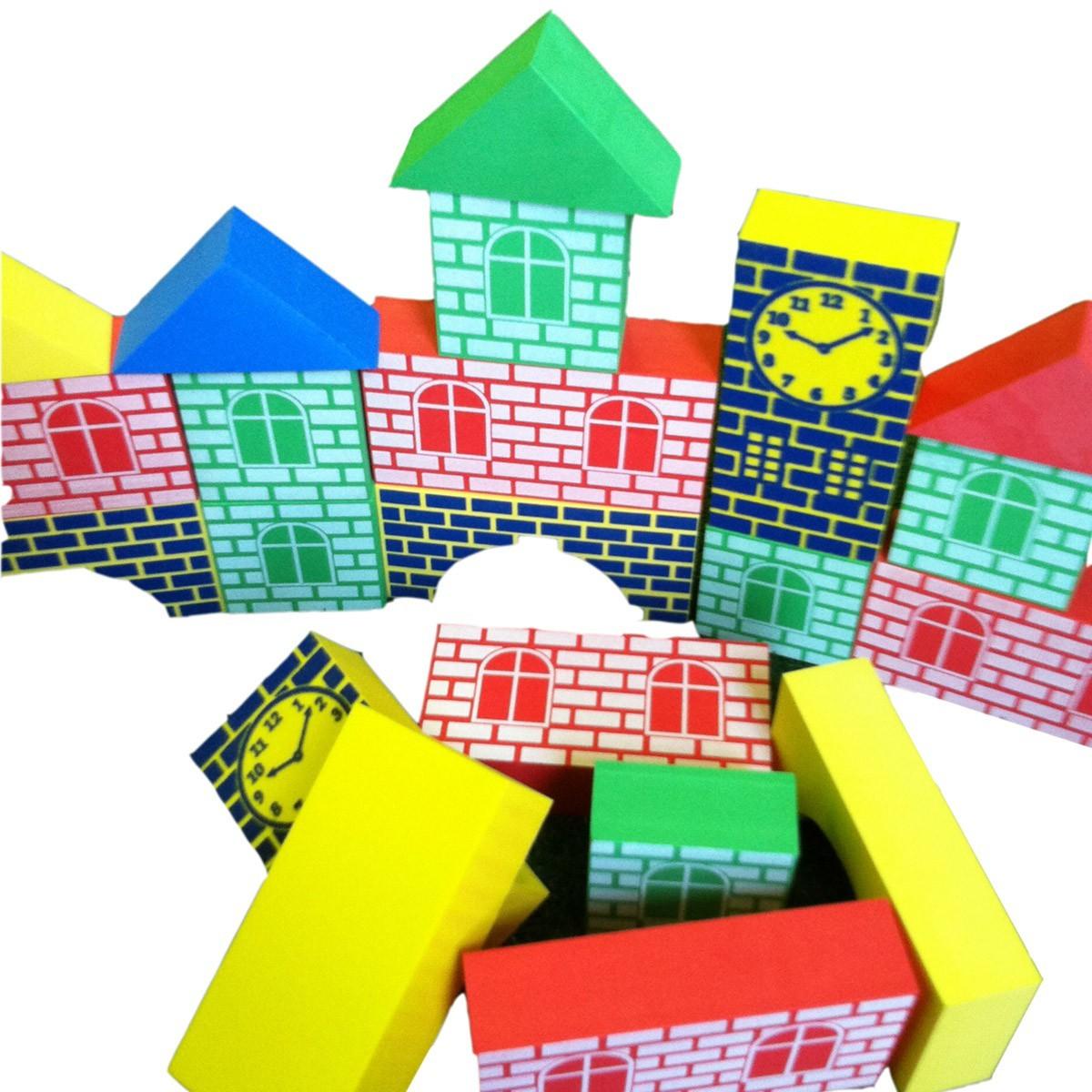Brinquedo Educativo Blocos De Montar Construtor de EVA