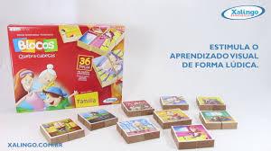 Brinquedo Educativo Blocos Quebra-Cabeças Família