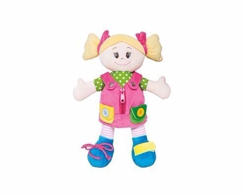 Brinquedo Educativo Boneca de Pelúcia Aprendendo a Vestir Girl