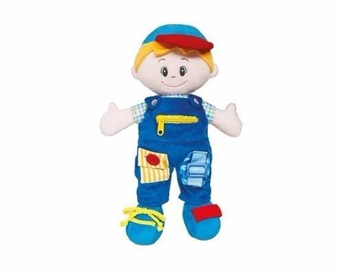 Brinquedo Educativo Boneco de Pelúcia Aprendendo a Vestir Boy