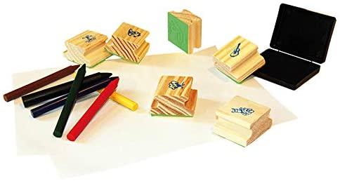 Carimbos ABC Ilustrados Brinquedo Educativo
