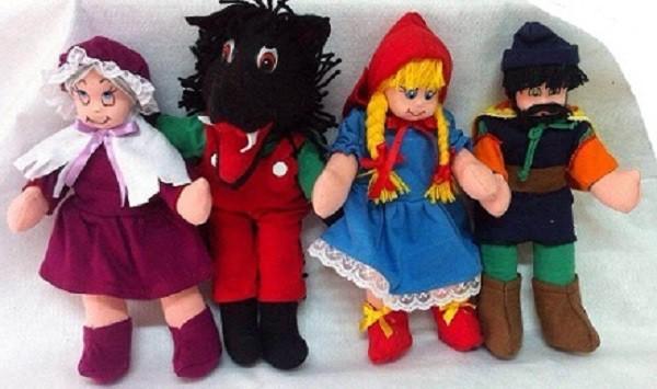 Brinquedo Educativo Conjunto de Bonecos Chapeuzinho Vermelho
